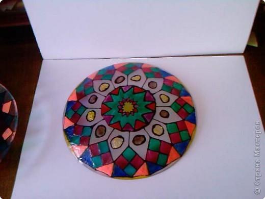 Витражная тарелка