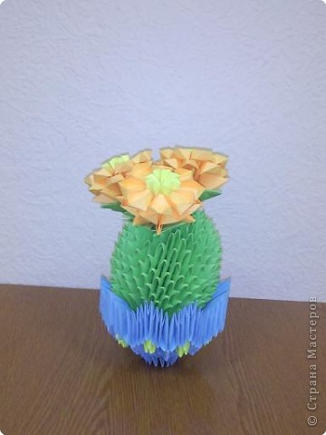 Оригами модульное: кактус зацвёл фото 1