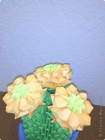Оригами модульное: кактус зацвёл фото 3