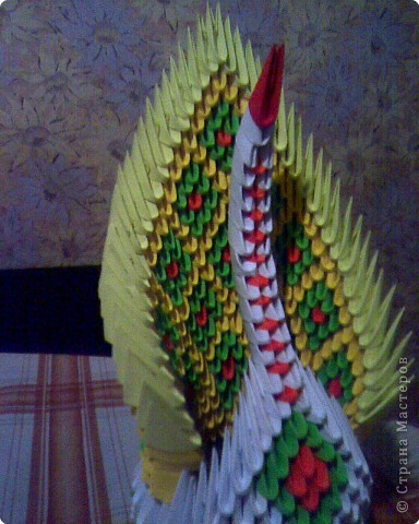 Оригами модульное: Ах эти лебеди и павы!!! фото 3