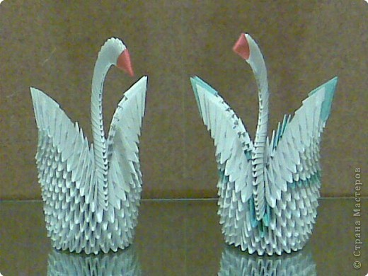 Лебеди оригами. фото 3