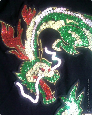 Вышивка: Дракон из пайеток фото 2