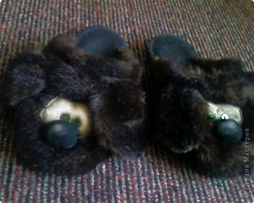 Шитьё: Меховые тапочки-собачки