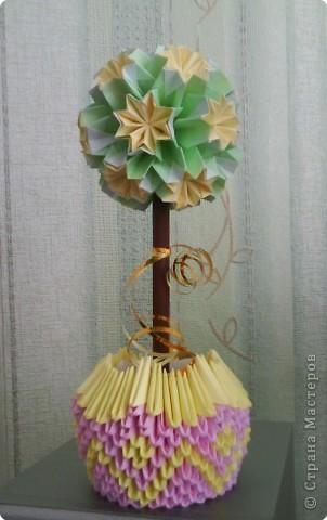 Оригами модульное: Дерево Счастья