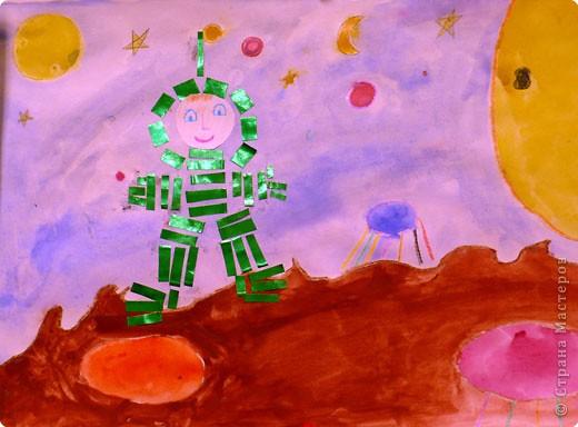 Космонавт на фантастической планете