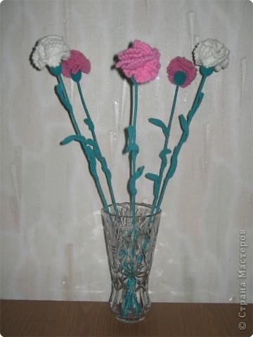 Гвоздики в вазе. фото 3