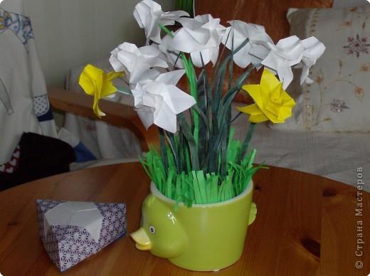 Оригами: Byket narcisov