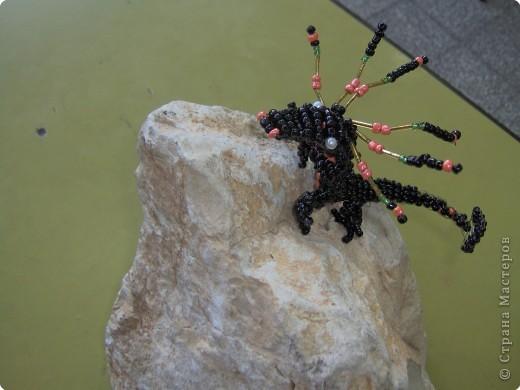 Игрушка Бисероплетение Черный дракон Бисер фото 2.