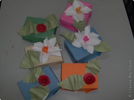 Шкатулочки с секретом для мам Бисер Бумага Коробки фото 1.
