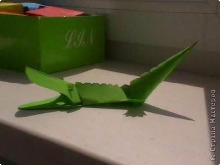 Бумагопластика: Крокодил