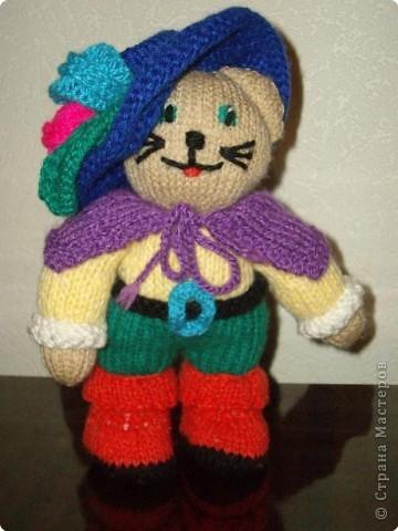 Вязание спицами: Кот в сапогах