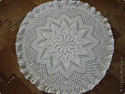 Вязание спицами: Салфетка фото 1