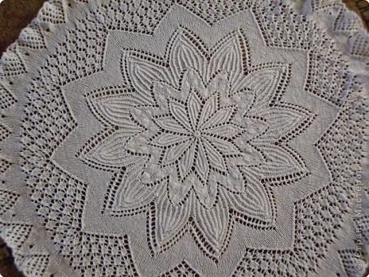 Вязание спицами: Салфетка фото 2