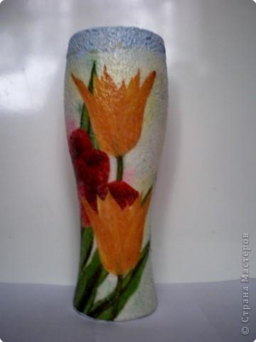 Декупаж: Вазочка под весенние цветы.