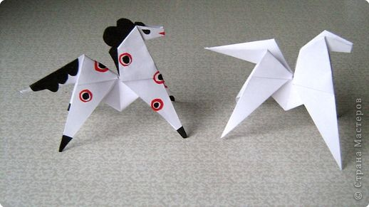 Мастер-класс Оригами Лошадка - игрушка Бумага фото 1