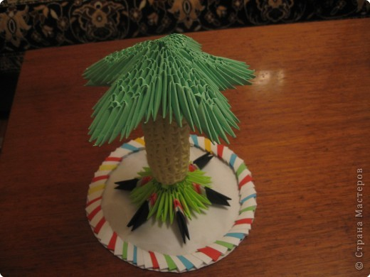 Оригами модульное: а вот и пальма