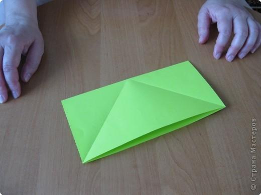 Я впервые делаю МК. Не знаю ,будет ли все понятно. Итак, берем квадратный лист бумаги и намечаем диагональ. фото 4