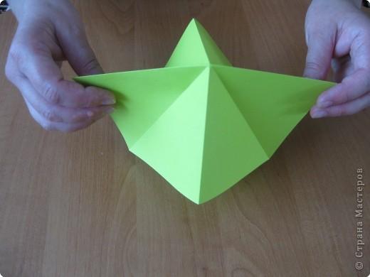 Я впервые делаю МК. Не знаю ,будет ли все понятно. Итак, берем квадратный лист бумаги и намечаем диагональ. фото 5