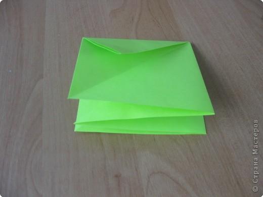 Я впервые делаю МК. Не знаю ,будет ли все понятно. Итак, берем квадратный лист бумаги и намечаем диагональ. фото 7