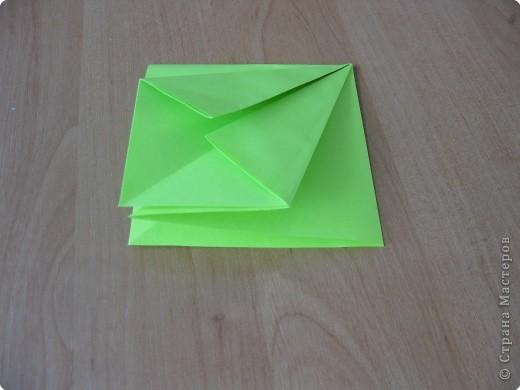 Я впервые делаю МК. Не знаю ,будет ли все понятно. Итак, берем квадратный лист бумаги и намечаем диагональ. фото 8