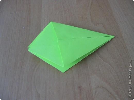 Я впервые делаю МК. Не знаю ,будет ли все понятно. Итак, берем квадратный лист бумаги и намечаем диагональ. фото 9