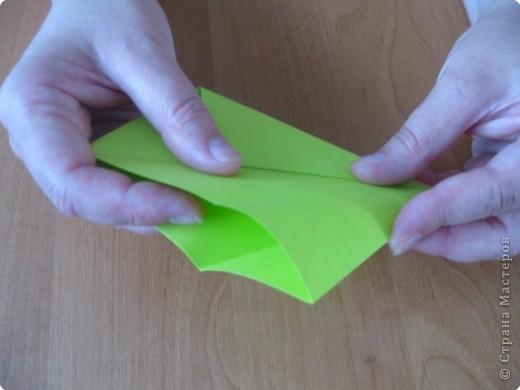 Я впервые делаю МК. Не знаю ,будет ли все понятно. Итак, берем квадратный лист бумаги и намечаем диагональ. фото 11