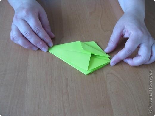 Я впервые делаю МК. Не знаю ,будет ли все понятно. Итак, берем квадратный лист бумаги и намечаем диагональ. фото 15