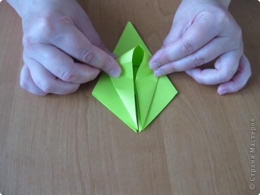 Я впервые делаю МК. Не знаю ,будет ли все понятно. Итак, берем квадратный лист бумаги и намечаем диагональ. фото 19