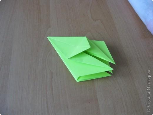 Я впервые делаю МК. Не знаю ,будет ли все понятно. Итак, берем квадратный лист бумаги и намечаем диагональ. фото 21
