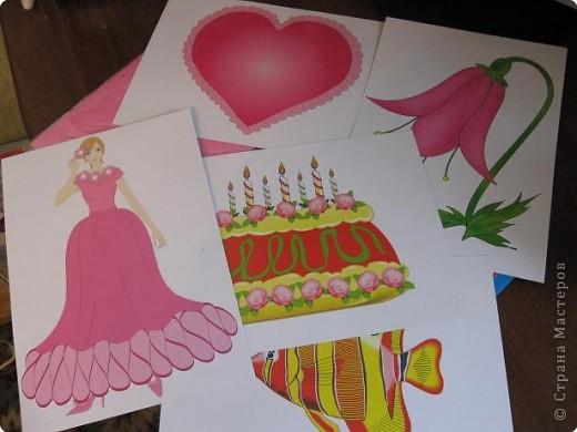 Вот так выглядит набор   объёмной бумаги из которой мы делали цветок. фото 2