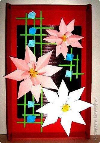 Ассамбляж, Оригами: Подарок к 8 марта фото 1