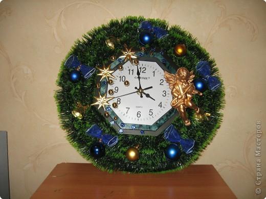 Новогодние часы картинки своими руками