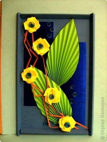 Ассамбляж, Оригами: Подарок к 8 марта фото 2