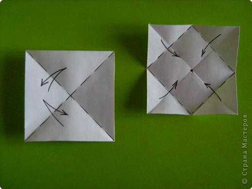 Оригами модульное: модуль для мозаики фото 1