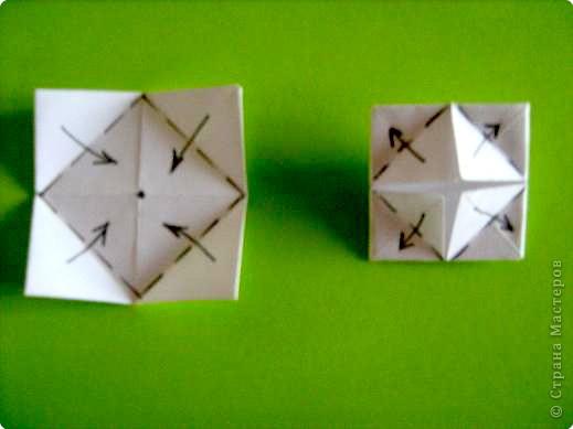 Оригами модульное: модуль для мозаики фото 2