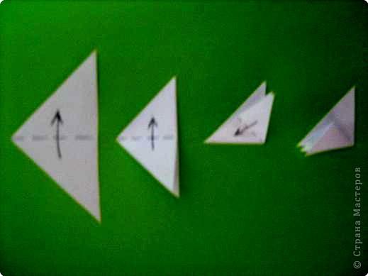Оригами модульное: модуль для мозаики фото 4
