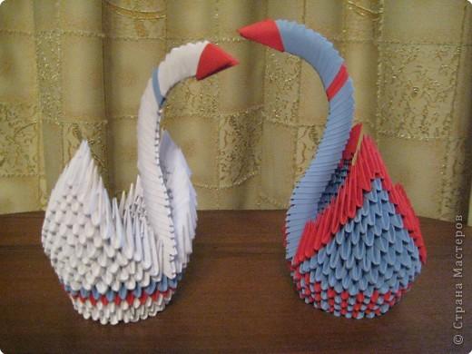 Белый лебедь - моя первая работа. А второй - это выполнили мальчики 6 класса.
