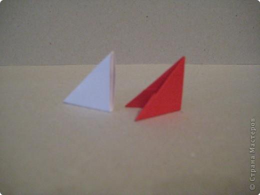 Кукла изготовлена методом модульного оригами. Волосы - из нитей. фото 2