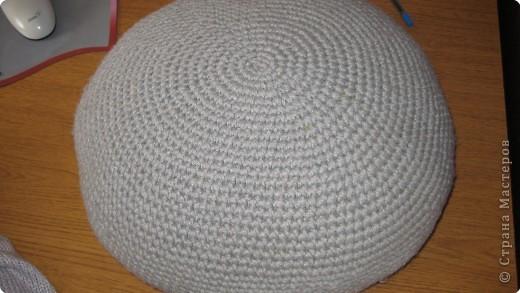Вязание крючком: очередная пушистая подушка фото 2