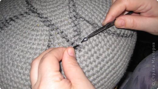 Вязание крючком: очередная пушистая подушка фото 6