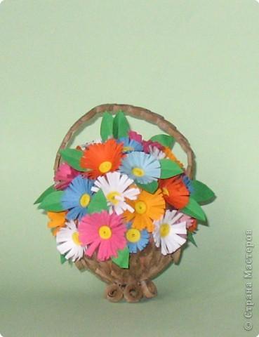 Карзиночка с цветами из яйца фото 1