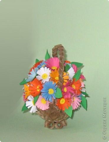 Карзиночка с цветами из яйца фото 2