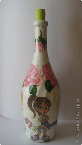 Декупаж: и опять декупаж бутылочек... фото 1