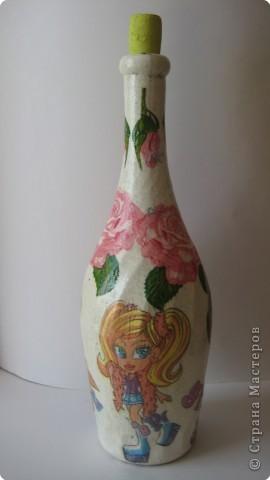 Декупаж: и опять декупаж бутылочек... фото 2