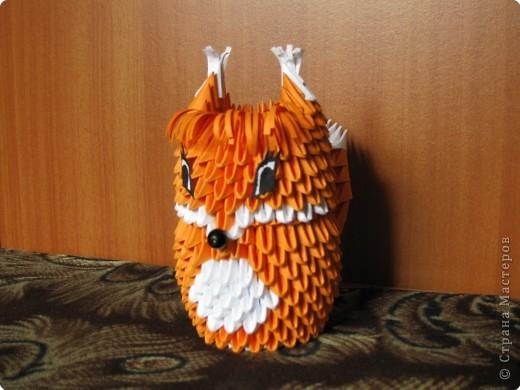 Оригами модульное: Белочка фото 1
