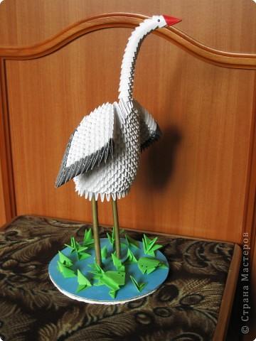 Оригами модульное: Аист фото 2