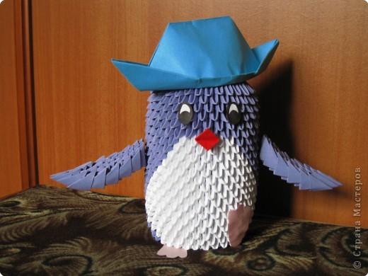 Оригами модульное: Пингвин фото 1