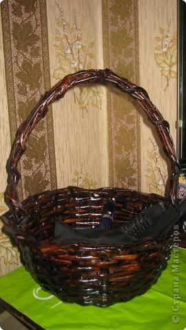 Эта корзиночка маленькая (на литровой банке плела) и сделала цветочки фото 3