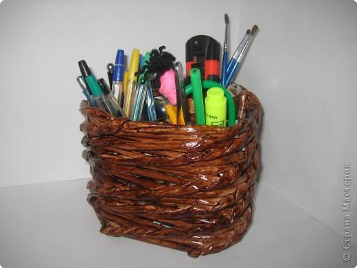 Плетение: карандашница (тройная) фото 1