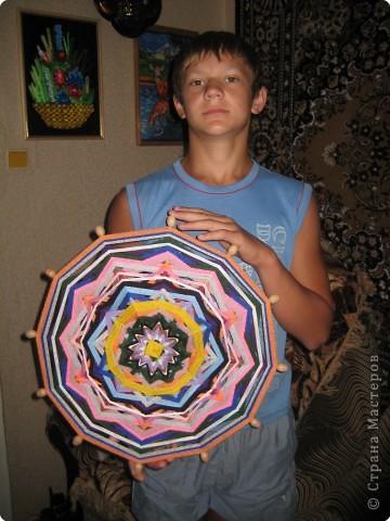Плетение: работа сына